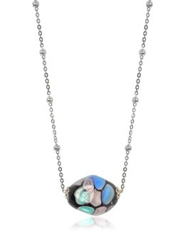 Smeralda Glass Beads Sterling Silver Necklace
