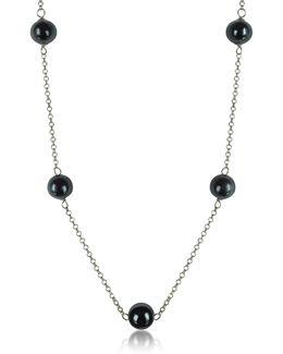 Perleadi Black Murano Glass Beads Necklace