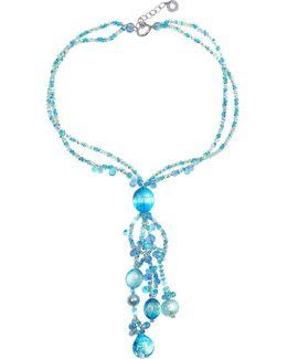 Bali Secret Light Blue Murano Glass Pendant Necklace