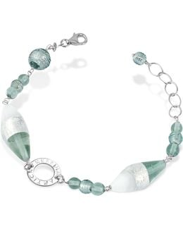 Liberty - Murano Glass Bead Sterling Silver Bracelet