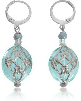 Florinda Light Blue Murano Glass Earrings