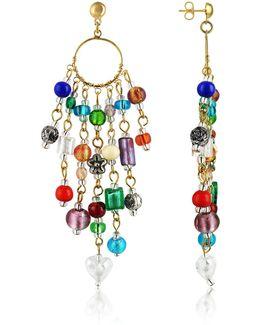 Brio - Murano Glass Bead Chandelier Earrings
