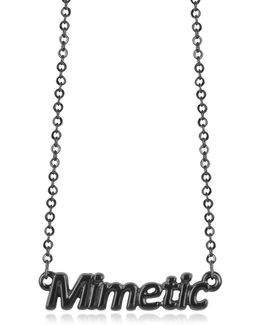Black 'mimetic' Necklace