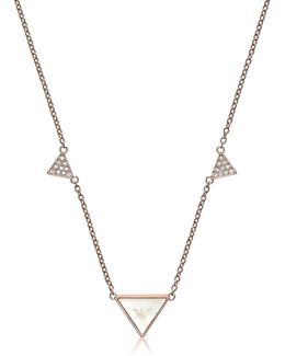 Signature Rose Goldtone Triangle Necklace