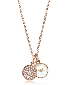 Signature Rose Goldtone Necklace W/double Charms