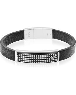 Iconic Stainless Steel And Rubber Men's Bracelet