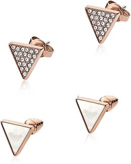 Signature Rose Goldtone Triangle Earrings