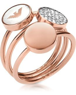 Signature Rose Goldtone Triple Ring