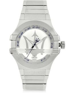 Potenza 3h Silver Dial Stainless Steel Watch