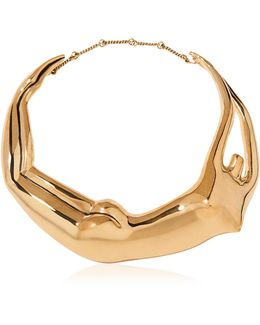 Figuratives Body Gold Plated Necklace
