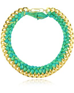 Do Brasil Gold And Cotton Necklace
