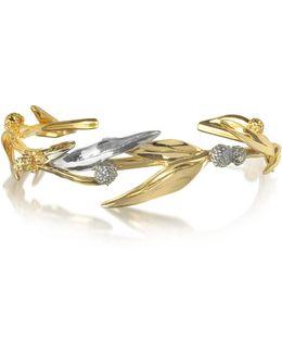 18k Gold-plated Brass Mimosa Bangle Bracelet