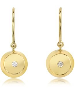 Telemaque 18k Gold And Diamond Bell Earrings