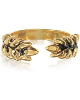 18k Gold-plated Two Cobs Wheat Ring