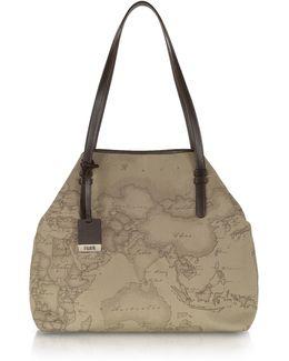 Geo Printed Large 'new Basic' Shoulder Bag