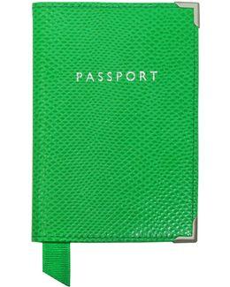 Grass Green Lizard Passport Cover
