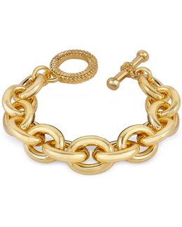 Gold Plated Chain Toggle Bracelet