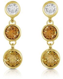 Three-tone Drop Earrings