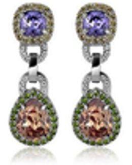 Purple & Orange Clip-on Earrings