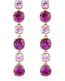 Pink & Amethyst Drop Earrings