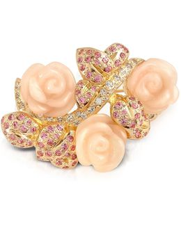 Pink Roses Brooch