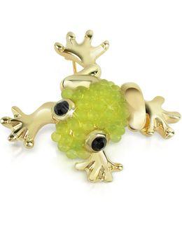 Light Green Frog Brooch
