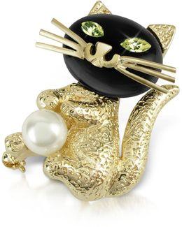 Green-eyed Cat Pin