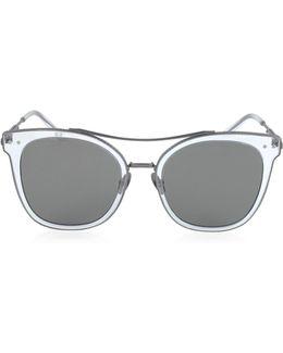 Bv0064s Round Metal Frame Women's Sunglasses