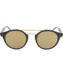 Bv0078s Round Acetate And Metal Frame Unisex Sunglasses