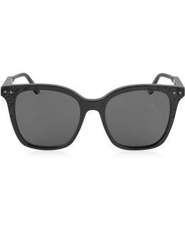 Bv0118s 005 Black Acetate Frame Women's Sunglasses