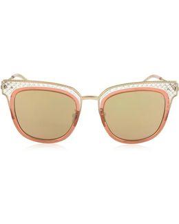 Bv0122s Square Acetate Frame Women's Sunglasses