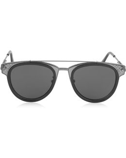 Bv0123s Round Metal And Acetate Unisex Sunglasses