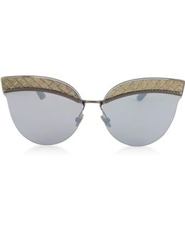 Bv0101s Metal Cat-eye Women's Sunglasses