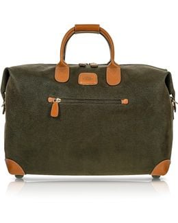 Life - Olive Green Micro Suede 18'' Carry-on Holdall