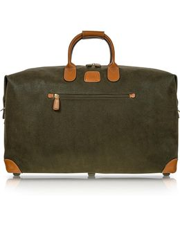 Life Olive Green Micro-suede 22'' Duffle Bag
