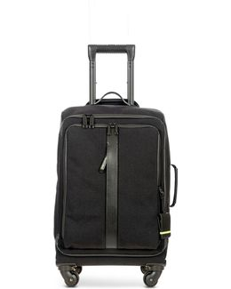 Black Nylon And Leather 22'' Soft Cabin Trolley