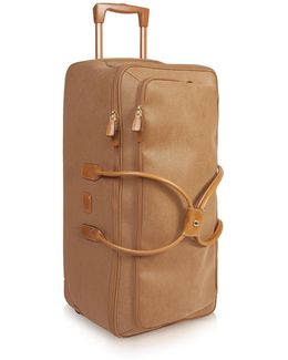 Life - Large Camel Micro Suede Rolling Duffle Bag