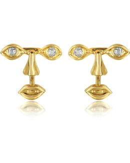 Osvaldo Piercing Gold Earrings