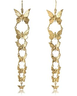 Butterflies Bronze Earrings