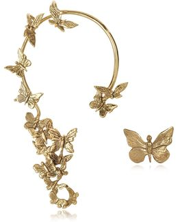 Butterflies Bronze Ear Cuff
