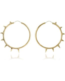 Bronze Hoop Earrings W/spikes