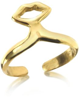 Small Bronze Midi Ring W/mouth