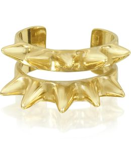 Double Band Bronze Ring W/spikes