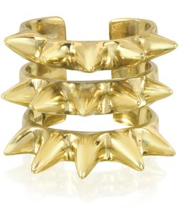 Triple Band Bronze Ring W/spikes