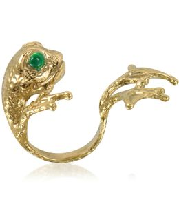 Bronze Frog Ring W/big Paws
