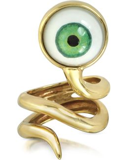 Bronze Snake Ring With Eye