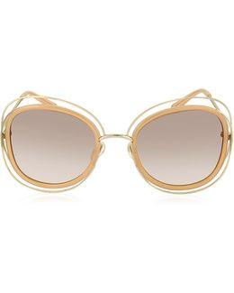 Carlina Ce 123s Square Oversized Acetate & Metal Women's Sunglasses