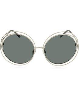 Carlina Ce 114s Metal Oval Women's Sunglasses