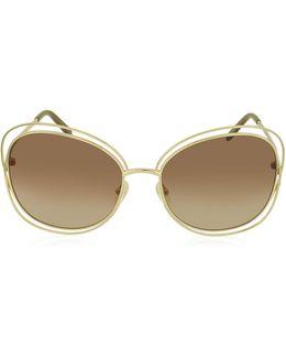 Carlina Ce 119s 786 Gold Metal Square Women's Sunglasses