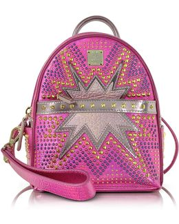 Electric Pink Stark Cyber Studs Xmn Backpack